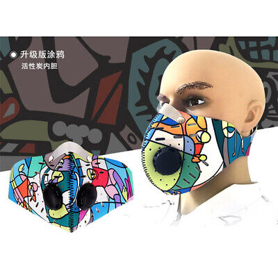 Anti-Fog Mask Dust-Proof Breathable Mask Activated Carbon Filter Respirator Mask