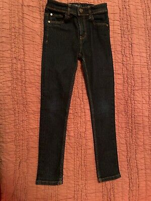 NEXT Super Skinny Dark Blue Jeans Age 8 Long Worn Once or Twice
