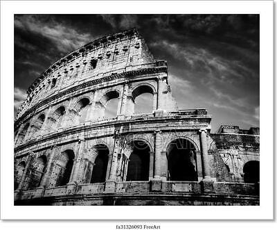 Colosseum In Rome, Italy. Art/Canvas Print. Poster, Wall Art, Home Decor - H