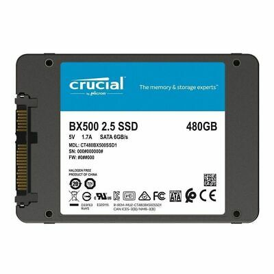 "Crucial BX500 Series 480GB 2.5"" SATA 7mm Internal Solid State Drive SSD 540MB/s"