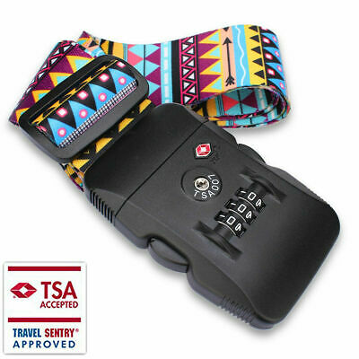 TSA Approved Travel Luggage Straps Security Locks with 3-Digit Combination Coded