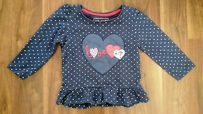 Young Dimension Primark Dark Navy Long Sleeved Top 12-18 Months 86Cm