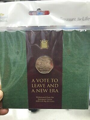 Brexit 50p Coin Official Royal Mint Brand New Uncirculated 2020 Collector Pack