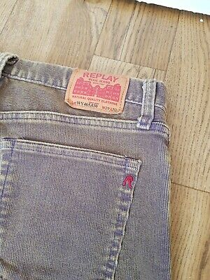 Mens Ladies Vintage Cords Corduroy trousers W29 L31 Fugly 80s 90s Replay Ref3P