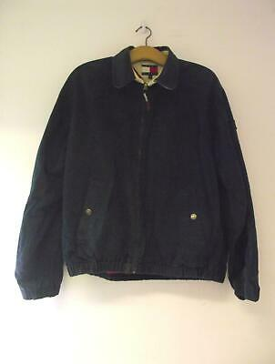 Tommy Hilfiger Mens Navy 100% Cotton Harrington 1990s Style Classic Jacket S