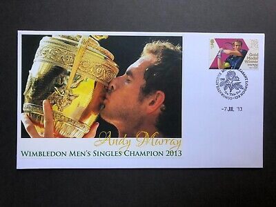 2013 Buckingham Cover - Andy Murray Wimbledon Men's Singles Champion FDC.