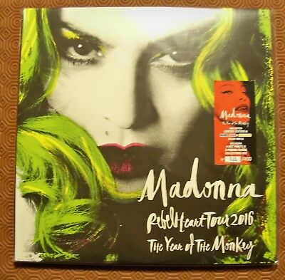 """Madonna """"The Year Of The Monkey Rebel Heart Tour 2016""""3 Coloured Vinyl Lp Hong K"""