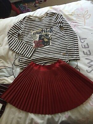 Girls Mayoral Top & Skirt Set / Outfit Age 8-9 Years