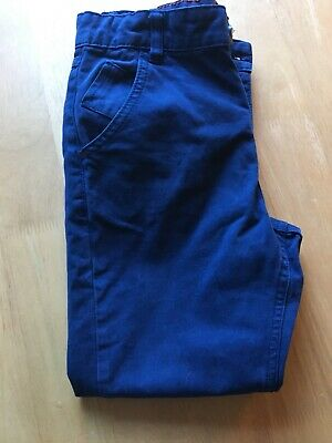 M&S Marks & Spencer Boy's Blue Chinos Age 9-10 Hardly Worn