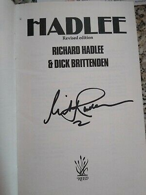 Richard Hadlee Signed Book, Hadlee And Testimonial Fund Signed Letter