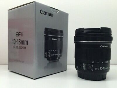 MINT Canon EFS 10-18mm F/4.5-5.6 IS STM Lens for Canon - Black