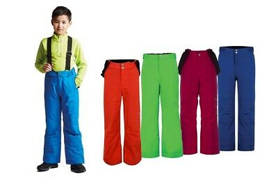 Dare2b Take On Kids Boys Girls Wateproof Breathable Ski Salopettes Trousers