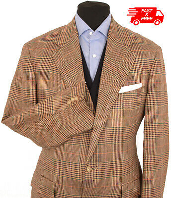 Mens Polo Ralph Lauren Suit Blazer Jacket Size 40R Prince of Wales Country Check
