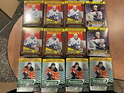 lot of 12 boxes 2019-20 UD Parkhurst Artifacst O-Pee-Chee OPC Box MAKAR hughes