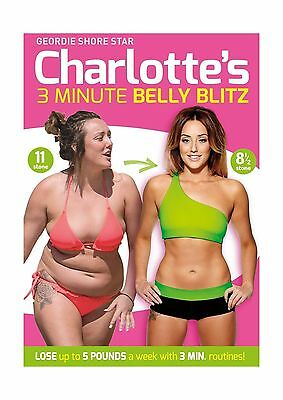 Charlotte Crosby's 3 Minute Belly Blitz [DVD] [2014] Brand New Sealed