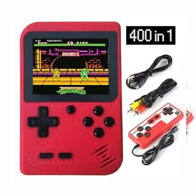 Handheld Game Console, BUDDYGO 400 in 1 Portable Console Support TV Red