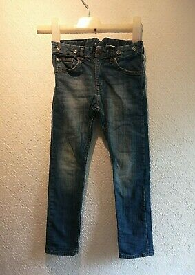 H&M Boys Jeans trousers Denim  Age 6-7 yrs Slim 122cm  Blue