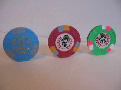 """3 Pcs Set Claim Stake Casino  Sparks, NV.     """"Only Open 1979"""""""