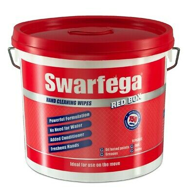Swarfega Red Box Heavy Duty Hand Cleaning Wipes