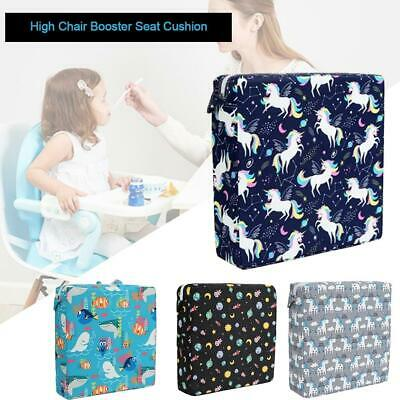 Hihh Chair Booster Seat Cushion Portable Cartoon Print Chair Cushion For Kids