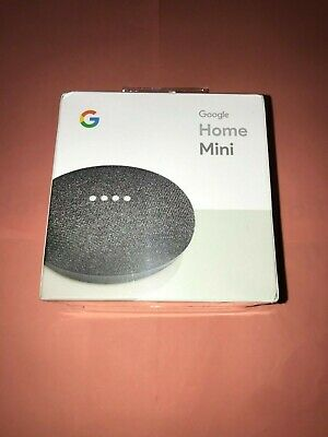 Google Home Mini Smart Assistant - Charcoal - BRAND NEW SEALED