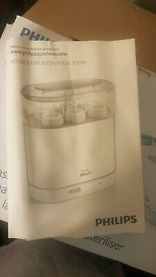 Philips AVENT 3-IN-1 Electric Steam Baby Bottle Parts Sterilizer and Bottle