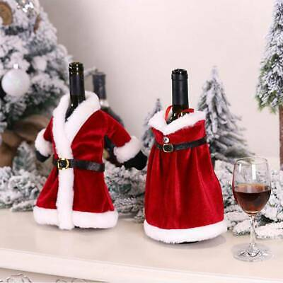 1PC Christmas Wine Bottle Bags Cover Christmas for Champagne Holder Xmas Deco uq