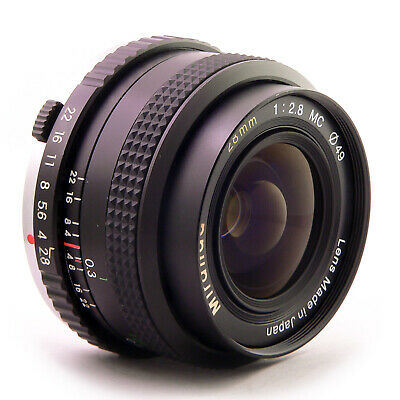 OLYMPUS OM MOUNT PANCAKE 28MM F2.8 lens fit CANON SONY FUJI MIRRORLESS MFT 11011