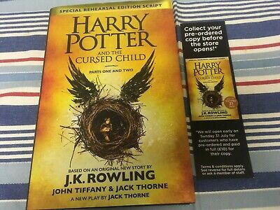 HARRY POTTER AND THE CURSED CHILD Parts 1 & 2 HARDBACK BOOK J.K. ROWLING