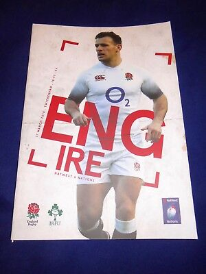2018 SIX NATIONS - ENGLAND v IRELAND - Official Programme 17/03/2018