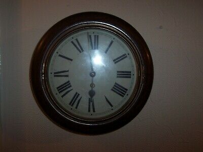 Lovely H.a.c. Railway Station/School Wall Clock 10 Inch Dial Working Great..