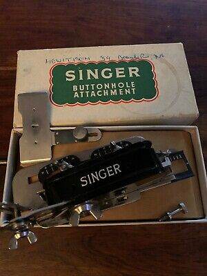 Singer Button Hole Attachment Boxed
