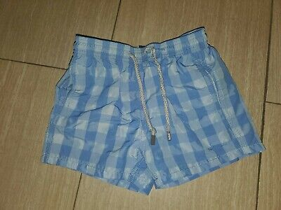 Vilebrequin Boys Sz 6 Blue Checkered Bathing Suit Shorts