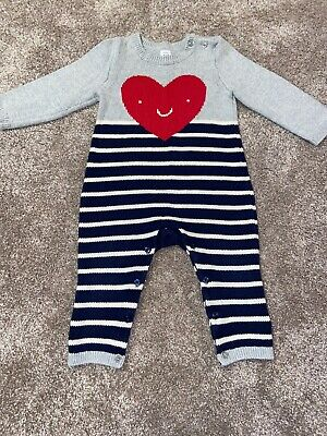 Baby Boys Girls Unisex Gap Knitted Outfit Romper 12-18 Months