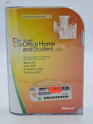 Office Home And Student 2007 Microsoft Windows With COA