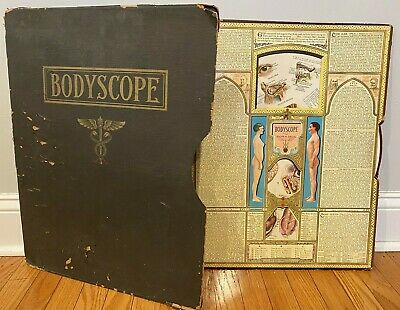 Bodyscope Antique Ralph Segal 1948 Medical Arts Anatomy Wheels Vintage Vovelle