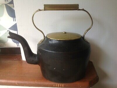 Rare Victorian Cast Iron Kettle, Baldwin No.2, 5 Pints, Gypsy Kettle