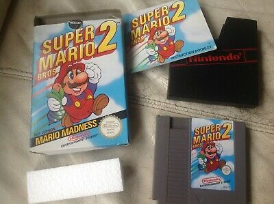 Nintendo NES Game Super Mario Bros 2 Boxed, With Instructions