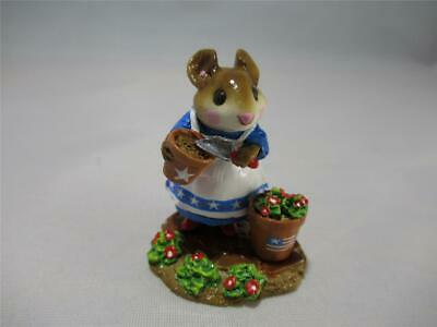 Wee Forest Folk Limited Edition Gardening with Pride Patient Lucy - RWB WFF