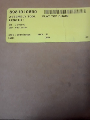 Rexroth 8981010650 Flat Top Chain Assembly Tool - Factory Sealed