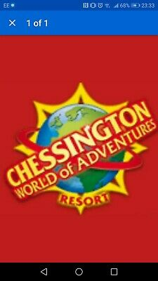 Chessington Full Day Tickets X2 thursday 16th July school summer holidays 2020