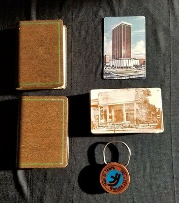 1st First National Bank of Florida 2 Decks of Playing Cards & Key Fob