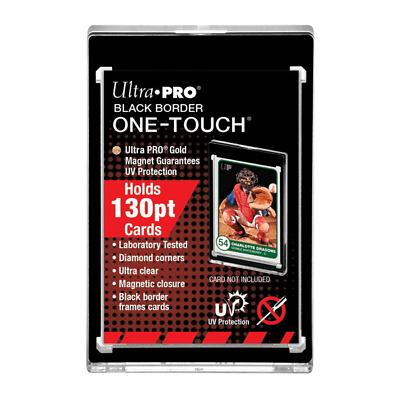 1 x Ultra Pro BLACK BORDER UV ONE TOUCH 130pt Magnetic Card Holder Protector