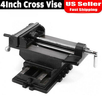"4"" Cross Slide Vise Drill Press Heavy Duty Metal Milling 2 Way X-Y Clamp Vice"