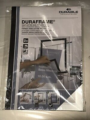 "DURABLE 491323 Sign Holder,5-1/2"" x 8-1/2"",PVC,PK2"