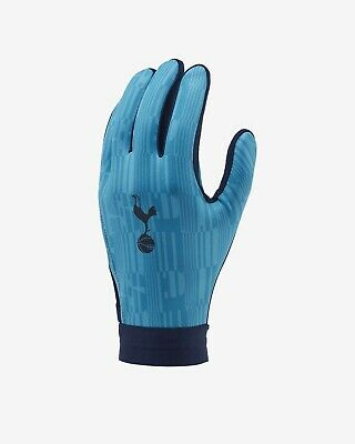 Tottenham Hotspur HyperWarm Academy Football Gloves Sz L Blue GS3898-487