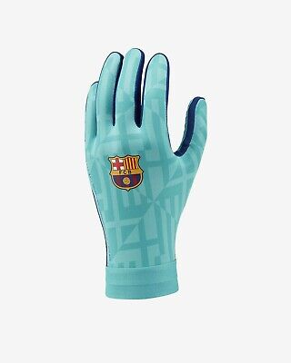 FC Barcelona HyperWarm Academy Football Gloves Sz L Cabana/Deep Royal GS3893-309