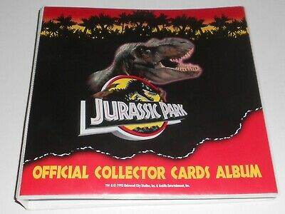 Full Set 1992 Dynamic Jurassic Park Official Collector Trading Cards + Album