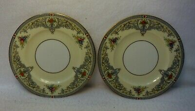 ROYAL WORCESTER china THE DUCHESS Z535 pattern Set of 2 Bread Plates - 6-1/8""
