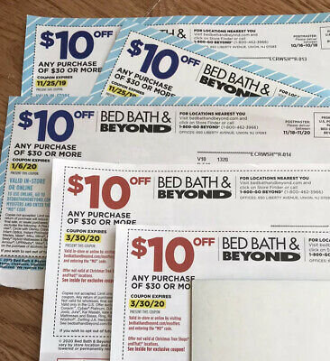 5 Bed Bath & Beyond $10 Off $30 Coupons Winter / Spring Weddings Spring-cleaning